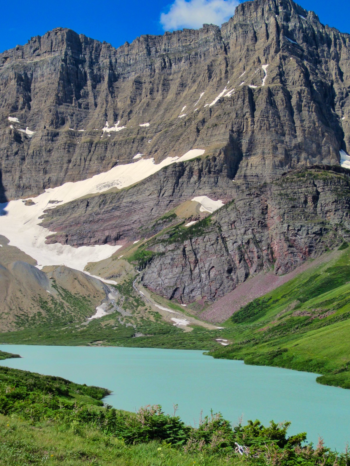 Cracker Lake and Mount Siyeh, Glacier National Park, Many Glacier region