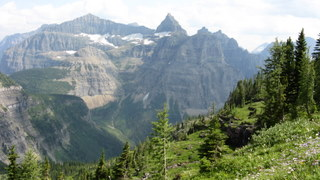 Thunderbird Mountain from Hole-in-the-Wall, Glacier National Park