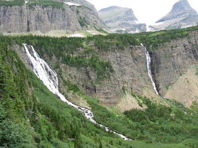 Paiota Falls and Atsina Falls, Glacier National Park