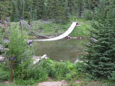 Belly River Suspension Bridge, Glacier National Park