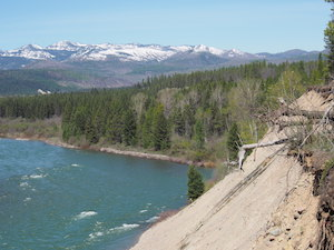 View of North Fork of Flathead River from Site of the Old Flathead Ranger Station , Glacier National Park