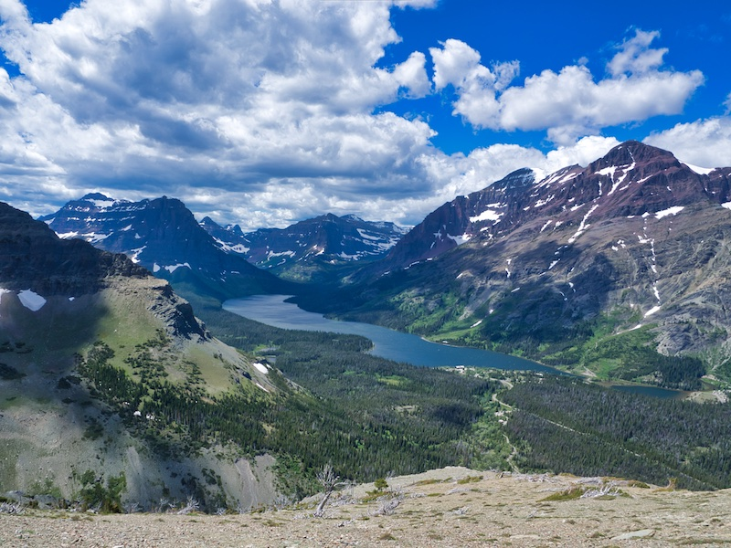 Appistoki Peak Ridge, Sinopah Mountain, Lone Walker Mountain, Cloudcroft Peaks, Mount Helen, Rising Wolf Mountain Glacier National Park