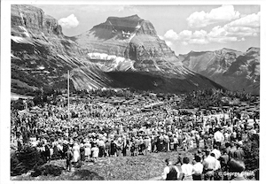 Dedication of Going-to-the-Sun Road at Logan Pass. Photo by Bud Grant