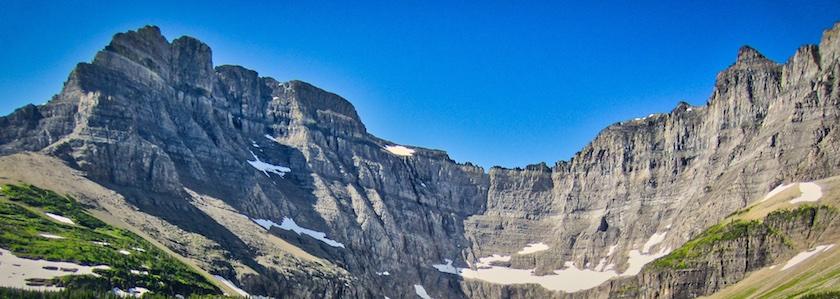 Mount Wilbur and Iceberg Peak Guarding the Iceberg Lake Cirque, Glacier National Park
