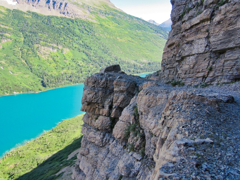 Trail Above Gunsight Lake, Glacier National Park