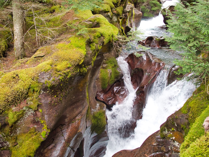 Avalanche Creek Entering the Gorge, Glacier National Park