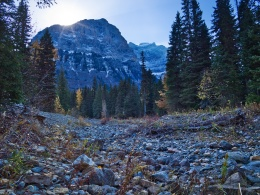 Dry Logan Creek with Clements Mountain, Glacier National Park
