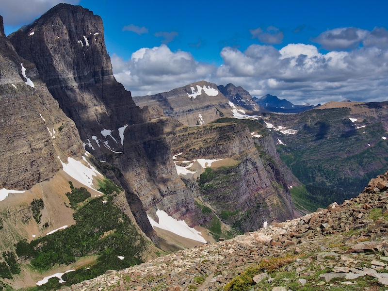 Mount Gould and the View Northwest from Piegan Pass, Glacier National Park