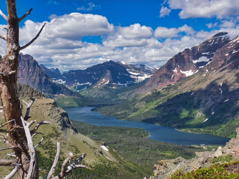 Two Medicine Lake from the Scenic Point Trail, Glacier National Park