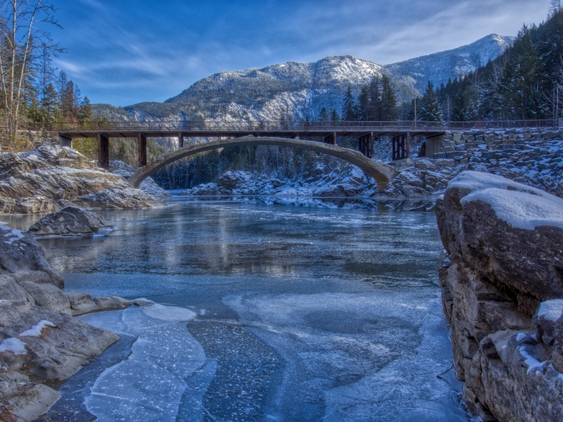 Belton Bridge and Middle Fork of the Flathead River, Glacier National Park