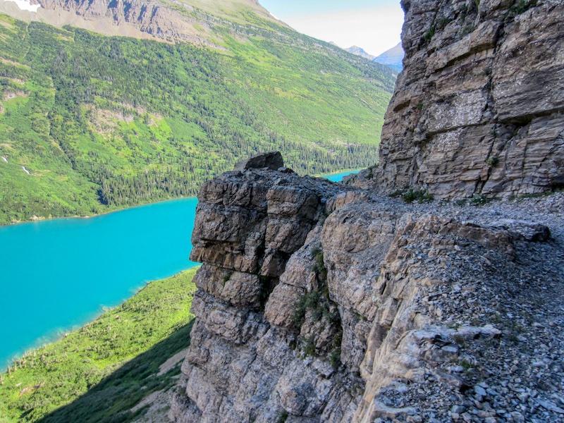 Gunsight Pass Trail Above Gunsight Lake, Glacier National Park