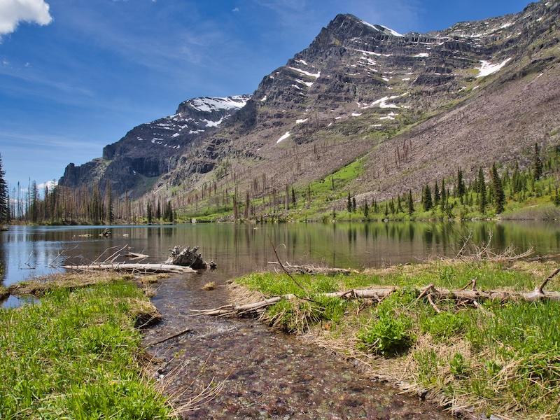 Glacier National Park Upper Snyder Lake