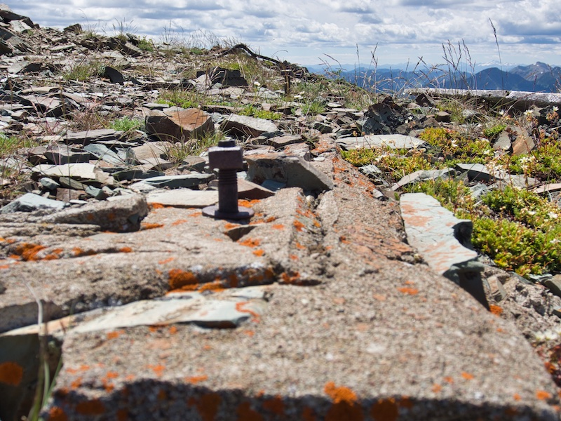 Glacier National Park, Foundation of the Former Elk Mountain Fire Lookout