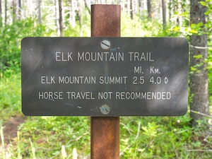 Glacier National Park, Elk Mountain Trailhead