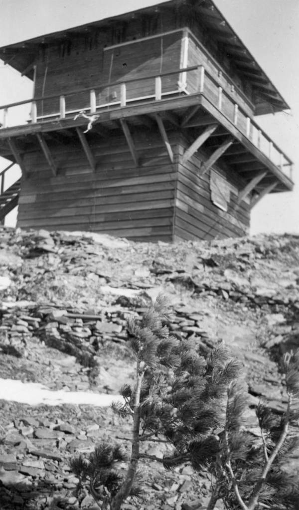 Former Elk Mountain Fire Lookout, Glacier National Park