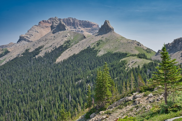 Glacier National Park, Belly River Region, Chief Mountain, Ninaki Peak, and Papoose
