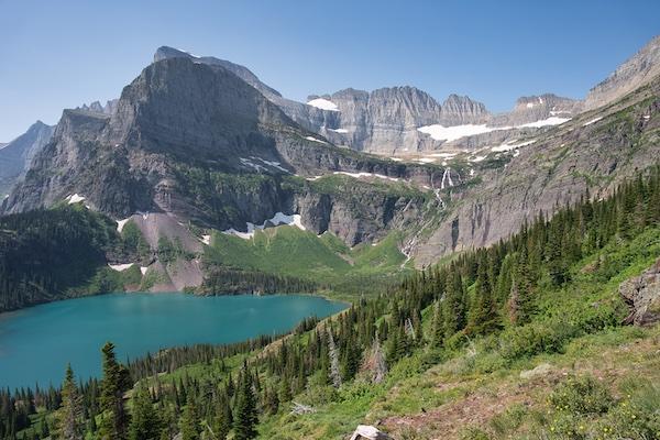 Glacier National Park, Many Glacier Region, Grinnell Lake, and Angel Wing