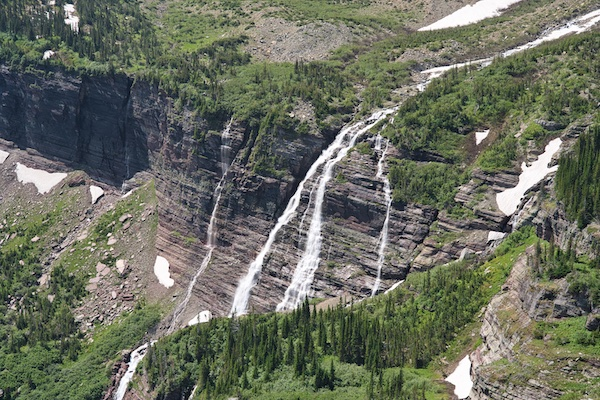 Glacier National Park, Many Glacier Region, Grinnell Falls