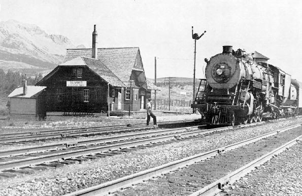 GNR Steam Locomotive at Summit Station, Marias Pass, MT